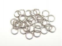spojovací kroužky 7 mm, ocel 304 - 10 ks